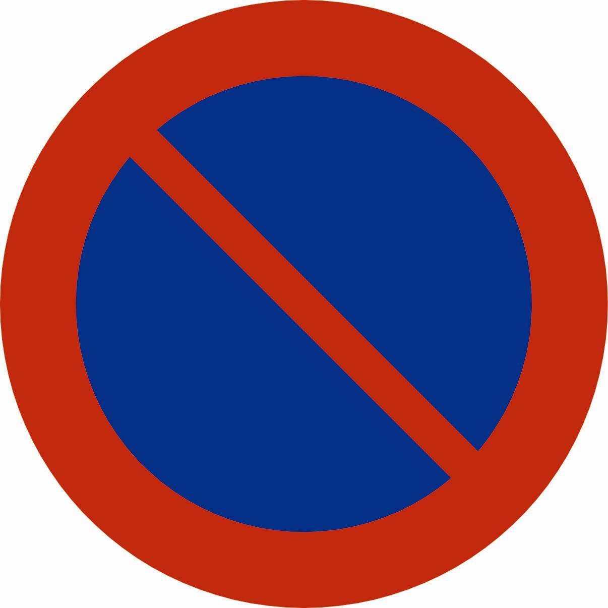 parkering forbudt skilt med pil